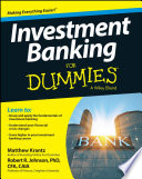 Investment Banking For Dummies Book PDF