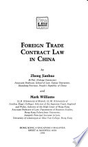 Foreign Trade Contract Law in China
