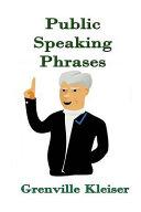 Public Speaking Phrases