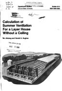 Calculation of Summer Ventilation for a Layer House Without a Ceiling