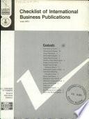 Checklist, International Business Publications