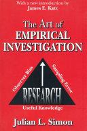 Pdf The Art of Empirical Investigation