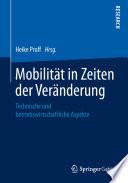Mobilität in Zeiten der Veränderung
