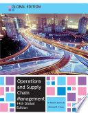 EBOOK  Operations and Supply Chain Management  Global edition