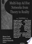 Multi hop Ad Hoc Networks from Theory to Reality Book