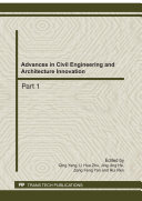 Advances in Civil Engineering and Architecture Innovation