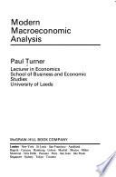 Modern Macroeconomic Analysis