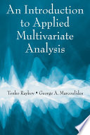 An Introduction To Applied Multivariate Analysis Book PDF