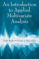 An Introduction to Applied Multivariate Analysis [Pdf/ePub] eBook
