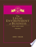 The Legal Environment Of Business Text And Cases Book
