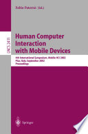 Human Computer Interaction with Mobile Devices Book