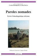 Paroles nomades - Ecrits d'ethnolinguistique africaine