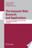 The Semantic Web  Research and Applications Book