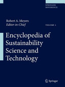 Encyclopedia of Sustainability Science and Technology Book