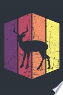 Vintage Deer Journal - Gift for Deer Lovers - Retro Deer Notebook - Deer Diary for Boys and Girls