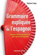 Pdf Grammaire expliquée de l'espagnol Telecharger