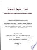 Annual Report ... National Acid Precipitation Assessment Program