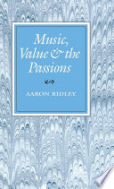 Music  Value and the Passions