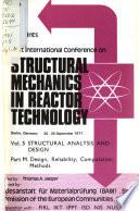Preprints: Structural analysis and design. pt. M. Design, reliability, computation methods