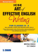Pdf ICSE Art Of Effective English Writing Class IX And X Telecharger