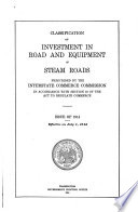 Classification Of Investment In Road And Equipment Of Steam Roads Prescribed By The Interstate Commerce Commission