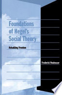 Foundations Of Hegel S Social Theory