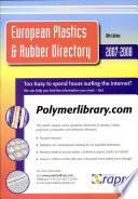 European Plastics   Rubber Directory  Book