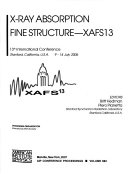 X Ray Absorption Fine Structure Xafs13 Book PDF