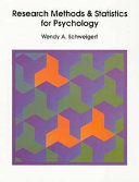 Research Methods and Statistics for Psychology
