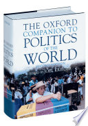 """The Oxford Companion to Politics of the World"" by Joël Krieger, Margaret E. Crahan, Norma Wilentz Hess Professor of Political Science Joel Krieger, Nzongola-Ntalaja, Joel Krieger, Margaret E. Crahan, Oxford University Press, Lawrence R. Jacobs, William A. Joseph, James A. Paul"