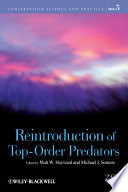 Reintroduction of Top Order Predators Book