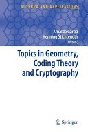 Topics In Geometry Coding Theory And Cryptography