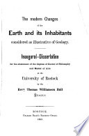 The Modern Changes Of The Earth And Its Inhabitants Considered As Illustrative Of Geology Book PDF