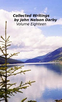 Pdf Collected Writings by John Nelson Darby Volume Eighteen Telecharger