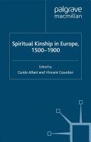 Spiritual Kinship in Europe, 1500-1900