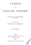 Cameos From English History The Rebellion And Restoration 1642 1678
