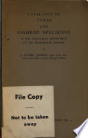 Catalogue of Types of Figured Specimens