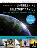 Fundamentals of Engineering Thermodynamics  9e WileyPLUS Card with Loose Leaf Set