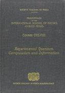 Experimental Quantum Computation and Information