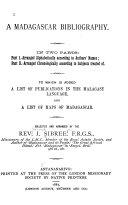 A Madagascar Bibliography