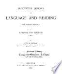 Suggestive Lessons in Language and Reading for Primary Schools Book