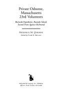 Private Osborne  Massachusetts 23rd Volunteers