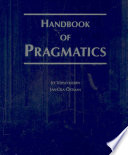 Handbook of Pragmatics Book