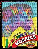 Rainbow Animals Circle Mosaics Coloring Book