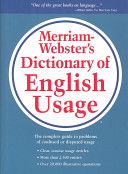 Merriam Webster s Dictionary of English Usage Book