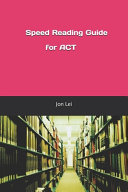 Speed Reading Guide for ACT Pdf/ePub eBook