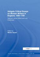 Ashgate Critical Essays on Women Writers in England, 1550-1700 [Pdf/ePub] eBook
