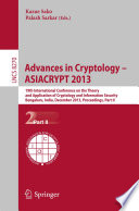 Advances In Cryptology Asiacrypt 2013 Book PDF