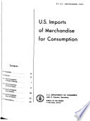 U.S. Imports of Merchandise for Consumption