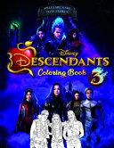 Descendants 3 Coloring Book banner backdrop